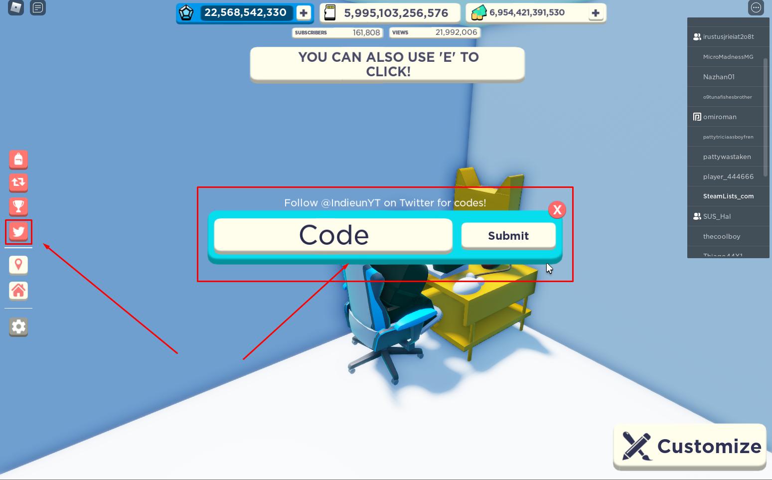 Roblox Youtube Simulator X Codes